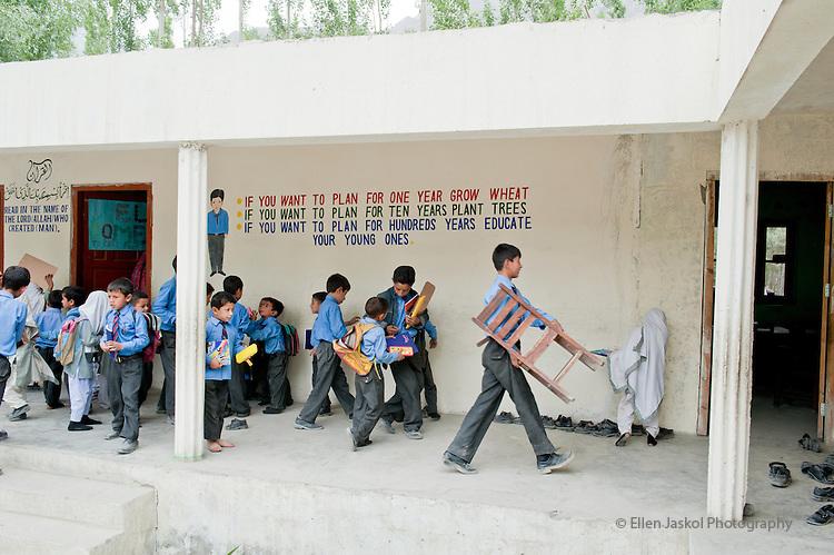 June 1, 2011.   Al Abid school in Skardu.  Photo by Ellen Jaskol.