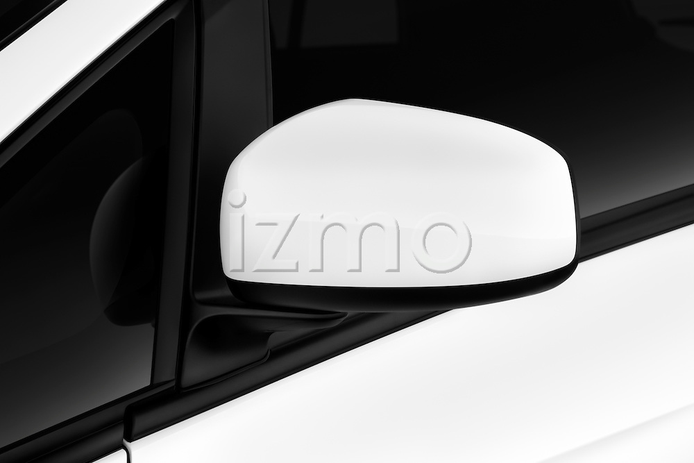 Side mirror detail view on a 2012 Mitsubishi MiEV SE