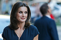 MADRID, SPAIN-May 14: Queen Letizia of Spain attends the Final of the scientific monologue contest 'FameLab Spain 2019' at Gran Maestre Theatre on May 14, 2019 in Madrid, Spain.  ***NO SPAIN***<br /> CAP/MPI/RJO<br /> &copy;RJO/MPI/Capital Pictures