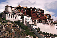 The Potala Palace was the chief residence of the Dalai Lama until the 14th Dalai Lama fled to Dharamsala, India, after the invasion of Tibet in 1959.  The palace was slightly damaged during the Tibetan uprising against the Chinese in 1959, when Chinese shells were launched into the palace's windows. Almost all of the  volumes of scriptures, historical documents and other works of art were either removed, damaged or destroyed.  Today the Potala Palace has been converted into a museum by the Chinese government.