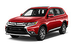 2018 Mitsubishi Outlander GT 4WD 5 Door SUV angular front stock photos of front three quarter view