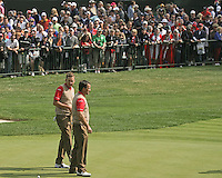 27 SEP 12 Ian Poulter and Graeme McDowell at The 39th Ryder Cup at The Medinah Country Club in Medinah, Illinois.