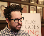 "J.J. Abrams attends ""A Press Conference Gone Wrong"" for Broadway's ""The Play That Goes Wrong"" at Sardi's on March 2, 2017 in New York City."