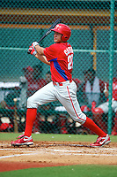 GCL Phillies Dylan Cozens #27 during a Gulf Coast League game against the GCL Pirates at Pirate City on July 18, 2012 in Bradenton, Florida.  GCL Pirates defeated the GCL Phillies 6-3.  (Mike Janes/Four Seam Images)