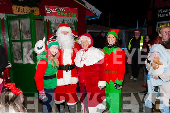 Pictured at the Abbeyfeale Switch On The Christmas Lights on Friday December 1st were Santa is greeted by  Mrs Claus with some helpers.