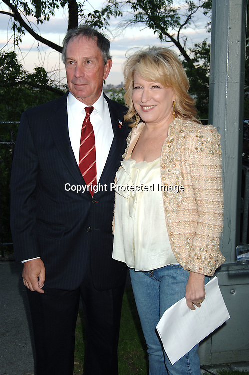 Mayor Michael Bloomberg and Bette Midler ..at  Bette Midler's New York Restoration Project  5th Annual Picnic on May 22, 2006 at Highbridge Park...Robin Platzer, Twin Images..
