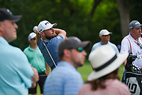 Tyrrell Hatton (ENG) watches his tee shot on 3 during round 4 of the 2019 Charles Schwab Challenge, Colonial Country Club, Ft. Worth, Texas,  USA. 5/26/2019.<br /> Picture: Golffile | Ken Murray<br /> <br /> All photo usage must carry mandatory copyright credit (© Golffile | Ken Murray)