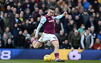 Jack Grealish of Aston Villa takes a shot on goal during the Sky Bet Championship match between Aston Villa and Birmingham City at Villa Park, Birmingham, England on 11 February 2018. Photo by Bradley Collyer/PRiME Media Images.