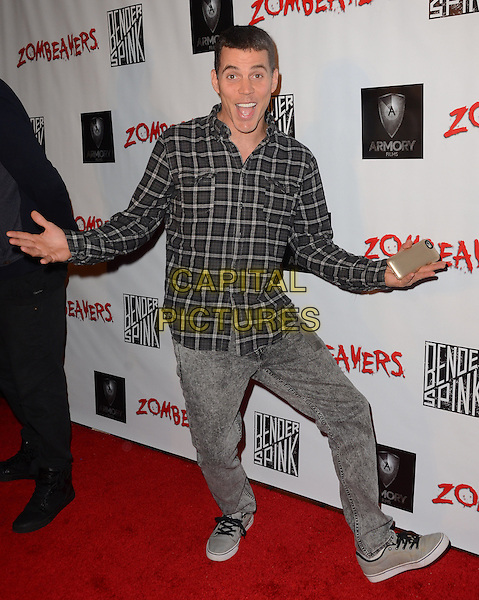 18 March 2015 - Los Angeles, California - Steve-O. Arrivals for the Los Angeles premiere of &quot;Zombeavers&quot; held at The Theaters at Ace Hotel. <br /> CAP/ADM/BT<br /> &copy;BT/ADM/Capital Pictures