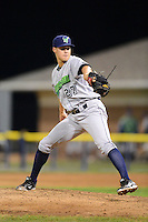 Jamestown Jammers pitcher Justin Topa (27) during a game against the Batavia Muckdogs on July 23, 2013 at Dwyer Stadium in Batavia, New York.  Jamestown defeated Batavia 7-0.  (Mike Janes/Four Seam Images)
