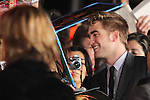 "ROBERT PATTINSON. World Premiere of Summit Entertainment's ""The Twilight Saga: Breaking Dawn - Part 1,"" at the Nokia Theatre at LA Live. Los Angeles, CA USA. November 14, 2011.©CelphImage"