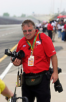 Pole Weekend for the 87th Indianapolis 500, Indianapolis Motor Speedway, Speedway, Indiana, USA  25 May,2003.Roger Bedwell, we hate his dog..World Copyright©F.Peirce Williams 2003 .ref: Digital Image Only..F. Peirce Williams .photography.P.O.Box 455 Eaton, OH 45320.p: 317.358.7326  e: fpwp@mac.com..