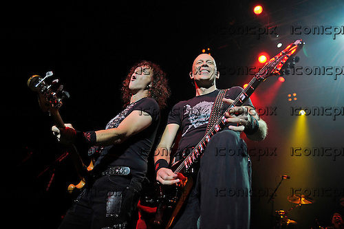 ACCEPT - bassist Peter Baltes and guitarist Wolf Hoffman - performing live at the Forum in London UK - 27 Nov 2014.  Photo credit: George Chin/IconicPix
