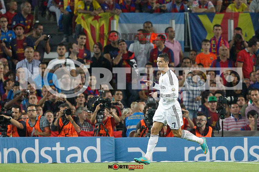 Real Madrid's Cristiano Ronaldo goal during la Liga match on october 7th 2012. ..Photo: Cesar Cebola  / ALFAQUI /©NortePhoto