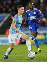 Manchester City's Phil Foden <br /> <br /> Photographer Andrew Kearns/CameraSport<br /> <br /> English League Cup - Carabao Cup Quarter Final - Leicester City v Manchester City - Tuesday 18th December 2018 - King Power Stadium - Leicester<br />  <br /> World Copyright © 2018 CameraSport. All rights reserved. 43 Linden Ave. Countesthorpe. Leicester. England. LE8 5PG - Tel: +44 (0) 116 277 4147 - admin@camerasport.com - www.camerasport.com