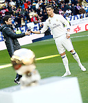 Real Madrid's Cristiano Ronaldo golden ball 2016 during La Liga match. January 7,2016. (ALTERPHOTOS/Acero)