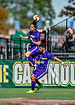 5 October 2019: University at Albany Great Dane Defender Bjarki Leósson, a Freshman from Reykjavik, Iceland, in action against the University of Vermont Catamounts at Virtue Field in Burlington, Vermont. The Catamounts fell to the visiting Danes 3-1 in America East, Division 1 play. Mandatory Credit: Ed Wolfstein Photo *** RAW (NEF) Image File Available ***