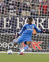 Los Angeles Galaxy goalkeeper Donovan Ricketts (1). In a Major League Soccer (MLS) match, the Los Angeles Galaxy defeated the New England Revolution, 1-0, at Gillette Stadium on May 28, 2011.