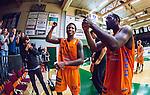 S&ouml;dert&auml;lje 2014-04-26 Basket SM-final S&ouml;dert&auml;lje Kings - Norrk&ouml;ping Dolphins :  <br /> Norrk&ouml;ping Dolphins Jermont Horton och Norrk&ouml;ping Dolphins William Walker jublar efter matchen<br /> (Foto: Kenta J&ouml;nsson) Nyckelord:  S&ouml;dert&auml;lje Kings SBBK Norrk&ouml;ping Dolphins SM-final Final T&auml;ljehallen jubel gl&auml;dje lycka glad happy