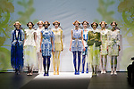 """October 18, 2012, Tokyo, Japan - Models pose on the catwalk wearing """"SOMARTA"""" during the Mercedes-Benz Fashion Week Tokyo 2013 Spring/Summer. Fashion week in Tokyo runs from October 13-20. (Photo by Christopher Jue/Nippon News)"""