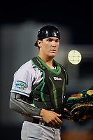 Daytona Tortugas catcher Tyler Stephenson (30) during a game against the Tampa Tarpons on April 18, 2018 at George M. Steinbrenner Field in Tampa, Florida.  Tampa defeated Daytona 12-0.  (Mike Janes/Four Seam Images)