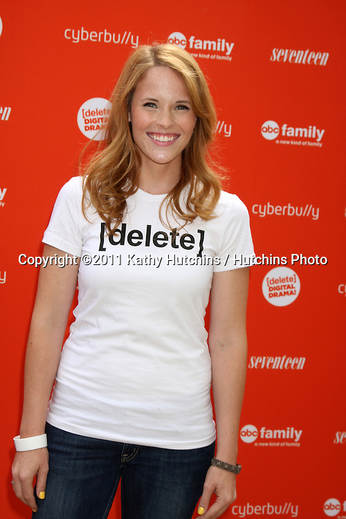 LOS ANGELES - JUL 14:  Katie Leclerc arriving at the Delete Digital Drama Rally at Americana on July 14, 2011 in Glendale, CA