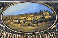 Océanie/Australie/South Australia/Australie Méridionale/Hahndorf: Enseigne du marché du village - Représentation du village et scène agricole