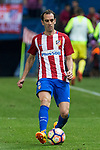 Diego Godin of Atletico de Madrid during the match of La Liga between Atletico de Madrid and Villarreal at Vicente Calderon  Stadium  in Madrid, Spain. April 25, 2017. (ALTERPHOTOS/Rodrigo Jimenez)