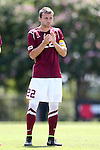 31 August 2014: Elon's Austin Dunker. The Elon University Phoenix played the Loyola Marymount University Lions at Koskinen Stadium in Durham, North Carolina in a 2014 NCAA Division I Men's Soccer match. Elon won the game 1-0.
