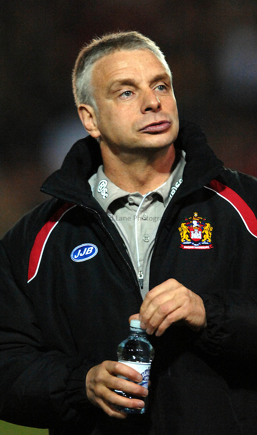 Photo: Richard Lane Photography..Salford Reds v Wigan Warriors. Engage Super League 2007. 16/03/2007..Wigan coach Brian Noble in reflective mood at half time