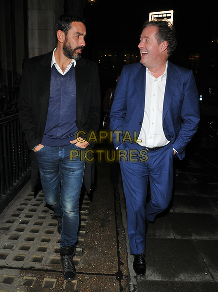 Robert Pires and Piers Morgan at the Wellness Awards 2018, BAFTA, Piccadilly, London, England, UK, on Thursday 01 February 2018.<br /> CAP/CAN<br /> &copy;CAN/Capital Pictures