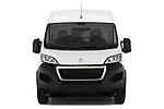 Car photography straight front view of a 2018 Peugeot Boxer Pro 3 Door Cargo Van