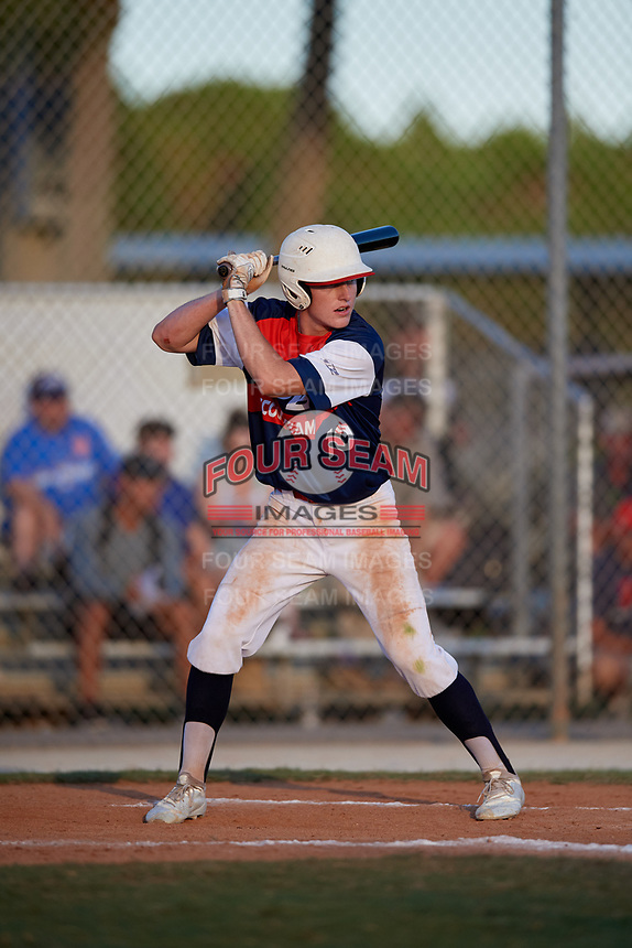 Cole Pulpan during the WWBA World Championship at the Roger Dean Complex on October 20, 2018 in Jupiter, Florida.  Cole Pulpan is an outfielder from Hockley, Texas who attends Waller High School.  (Mike Janes/Four Seam Images)