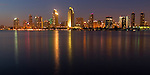 A fine art capture of the San Diego Skyline as seen from Coronado Island