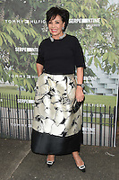 Dame Shirley Bassey<br /> arrives for the Serpentine Gallery Summer Party 2016, Hyde Park, London.<br /> <br /> <br /> ©Ash Knotek  D3138  06/07/2016