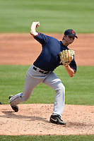 John Creel (30) of Lake Norman Charter High School in Huntersville, North Carolina playing for the Cleveland Indians scout team during the East Coast Pro Showcase on August 1, 2014 at NBT Bank Stadium in Syracuse, New York.  (Mike Janes/Four Seam Images)