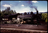 D&amp;RGW #499 K-37 in Chama.<br /> D&amp;RGW  Chama, NM