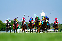 ARLINGTON HEIGHTS,IL-AUGUST 11: ,ridden by ,wins the Secretariat Stakes at Arlington International Race Track on August 11,2018 in Arlington Heights,Illinois (Photo by Kaz Ishida/Eclipse Sportswire/Getty Images)