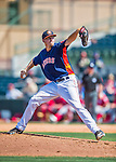 15 March 2016: Houston Astros pitcher Chris Devenski on the mound during a Spring Training pre-season game against the Washington Nationals at Osceola County Stadium in Kissimmee, Florida. The Astros fell to the Nationals 6-4 in Grapefruit League play. Mandatory Credit: Ed Wolfstein Photo *** RAW (NEF) Image File Available ***