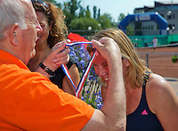 Netherlands, Amstelveen, August 23, 2015, Tennis,  National Veteran Championships, NVK, TV de Kegel,  awards ceremony woman 45+ : Eveline Hamers<br /> Photo: Tennisimages/Henk Koster