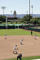 STANFORD, CA - April 30, 2011:  Players during Stanford's 7-1 loss to Washington at Stanford, California on April 30, 2011.