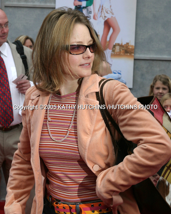 "JODIE FOSTER.PREMIERE OF ""ICE PRINCESS"".EL CAPITAN THEATER.HOLLYWOOD, CA.MARCH 13, 2005.©2005 KATHY HUTCHINS /HUTCHINS PHOTO..."