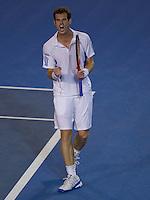 Andy Murray (GBR) (5) against Marin Cilic (CRO) (14).in the Semi-Final of the Mens SIngles. Murray beat Cilic 3-6 6-4 6-4 6-2..International Tennis - Australian Open Tennis - Thur 28  Jan 2010 - Melbourne Park - Melbourne - Australia ..© Frey - AMN Images, 1st Floor, Barry House, 20-22 Worple Road, London, SW19 4DH.Tel - +44 20 8947 0100.mfrey@advantagemedianet.com