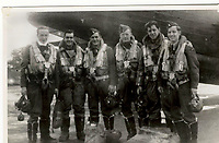 "Pictured L-R: Pilot Sgt Charles Hamel, Navigator Sgt Jules Robert Rene Villeneuve, Bomb Aimer F/off William Joseph Alison, W/Op/Airgunner Sgt Joseph Paul Ernest Burke, Air Gunner Sgt Arthur Grouix, Air Gunner Sgt Gerard Dusablon. <br /> Re: The nephew of a World War II airman whose plane crashed into a Welsh mountain has climbed the peak to pay tribute to the uncle he never met.<br /> Dr Peter Paré, 74, travelled from his home in Vancouver, Canada, to read a poem at the desolate spot where his uncle Bill Allison was killed.<br /> Flying officer Allison, 28, was one of the six crew of a Wellington Bomber that crashed on a training flight in November 1944.<br /> The plane wreckage is still scattered over Carreg Goch in the Brecon Beacons where hundreds of young airmen learned to prepare for bombing missions.<br /> Dr Paré said: ""I wanted to make this pilgrimage even though I was a baby when he died and never met Bill Allison.<br /> ""We only found out about the crash site recently and it is remarkable that so much of the plane is still here.""<br /> Flying officer Allison was the oldest on board when the plane's starboard engine developed a fault during a low-flying exercise.<br /> For years local people have honoured the brave airmen by flying a Canadian flag at the scene - replacing it every time it gets ripped by strong winds.<br /> Dr Paré, retired Professor of Medicine at the University of British Columbia, said: ""It was very moving to see the Maple Leaf flying where my uncle died all those years ago.<br /> ""It brought a tear to my eye as I read the poem I wrote in his honour."""