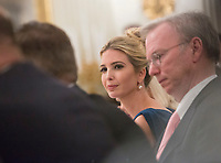 President advisor Ivanka Trump participates in an American Technology Council roundtable with corporate and eduction leaders at The White House in Washington, DC, June 19, 2017. <br /> Credit: Chris Kleponis / CNP /MediaPunch
