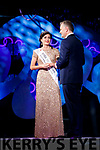 Maggie McEldowney 2016 Rose of Tralee with presenter Dáithí Ó Sé in the Dome on Tuesday Night.