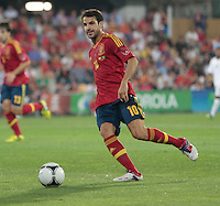 07.09.2012 Pontevedra, Spain. Friendly match between teams from Saudi Arabia vs Spain (4-0). Pasarón played at the stadium. The photo shows Cesc Fabregas Soler (Spanish midfielder of Barcelona)