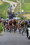 The lead group climb Mont Noir during the 2019 Gent-Wevelgem in Flanders Fields running 252km from Deinze to Wevelgem, Belgium. 31st March 2019.<br /> Picture: Eoin Clarke | Cyclefile<br /> <br /> All photos usage must carry mandatory copyright credit (© Cyclefile | Eoin Clarke)