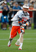 Virginia Cavaliers Jacob Ghitelman (32) takes a shot during the game against the Johns Hopkins in Charlottesville, VA. Johns Hopkins defeated Virginia 11-10 in overtime. Photo/Andrew Shurtleff