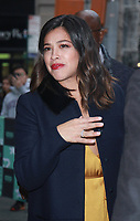 NEW YORK, NY - NOVEMBER 6: Gina Rodriguez seen leaving AOL's Build Series in New York City on November 6, 2017. Credit: RW/MediaPunch